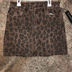 cheetah mini skirt